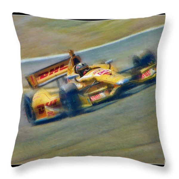 Ryan Hunter-reay Throw Pillow by Blake Richards