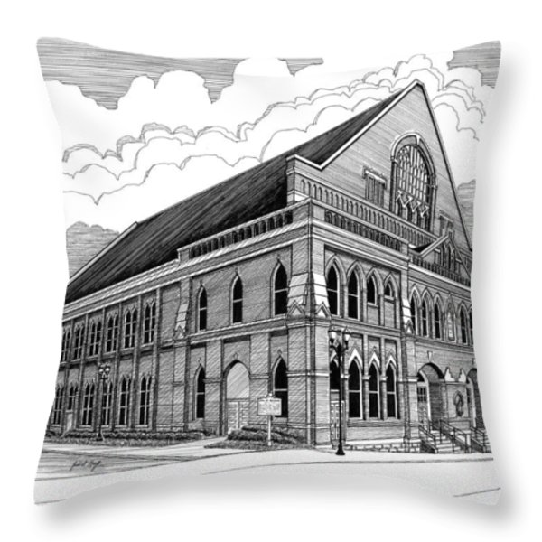 Ryman Auditorium in Nashville TN Throw Pillow by Janet King