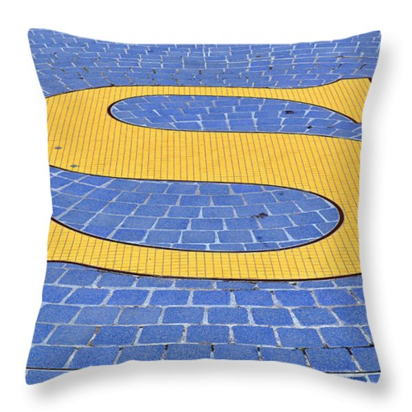 S Is For ...... Throw Pillow by Roger Reeves  and Terrie Heslop