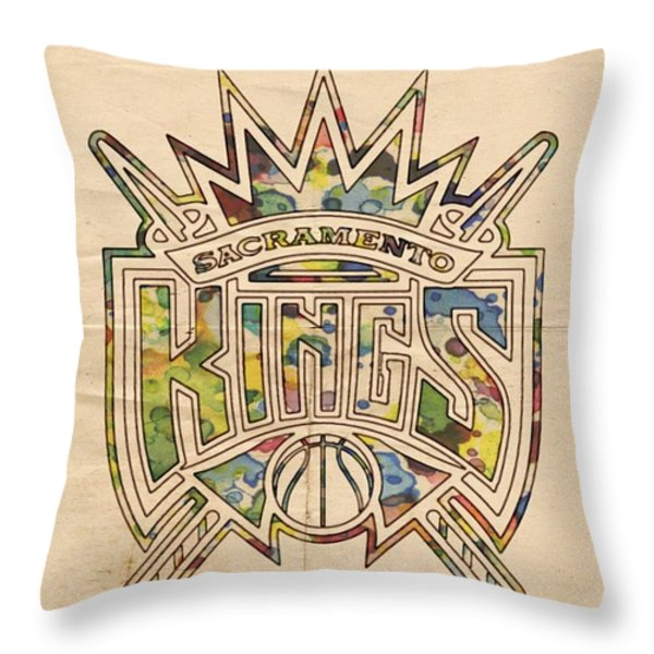 Sacramento Kings Poster Art Throw Pillow by Florian Rodarte