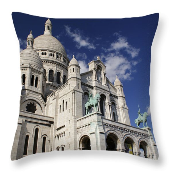 Sacre Coeur Paris Throw Pillow by Gary Eason