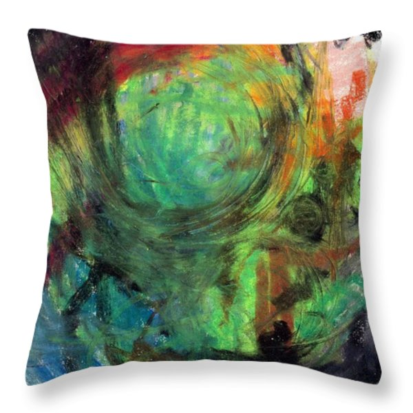 Sacred Canoe Journey Throw Pillow by Patrick Morgan
