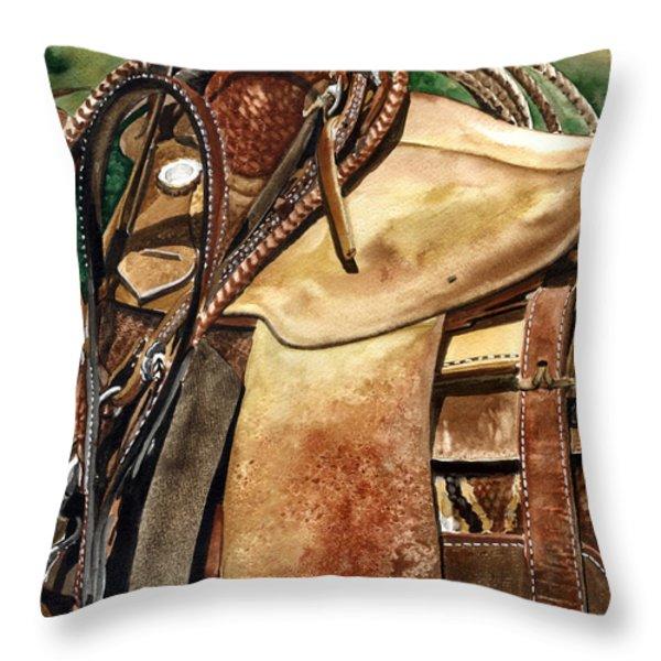 Saddle Texture Throw Pillow by Nadi Spencer