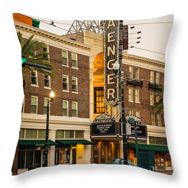 Saenger Theatre New Orleans Throw Pillow by Steve Harrington