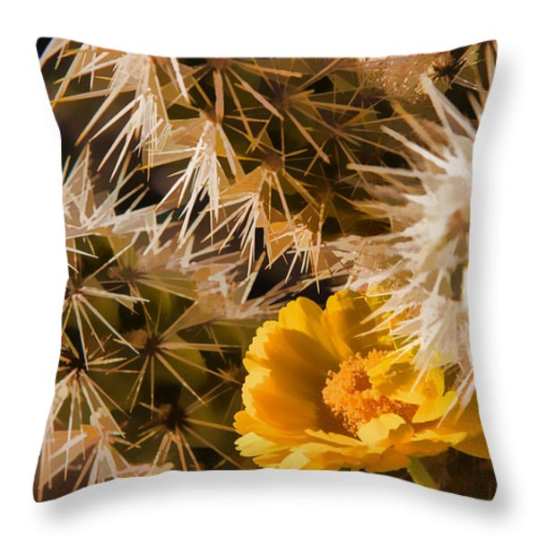 Safe Here Throw Pillow by Scott Campbell