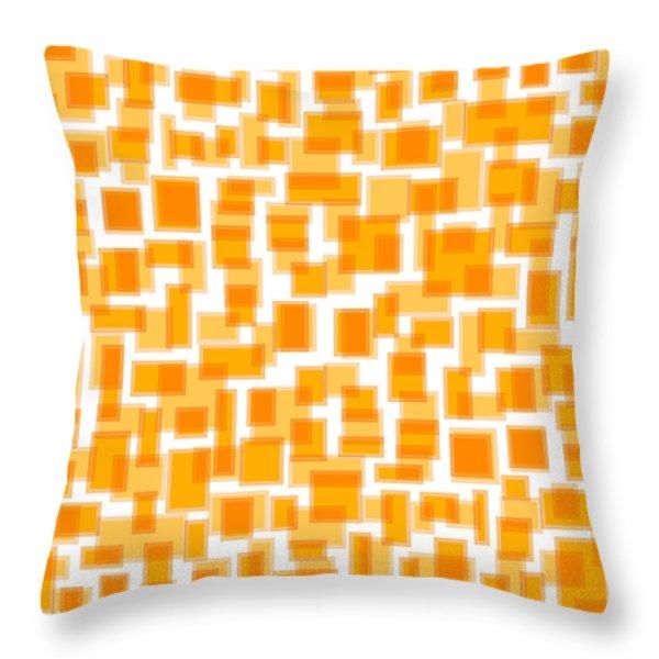 Saffron Yellow Abstract Throw Pillow by Frank Tschakert