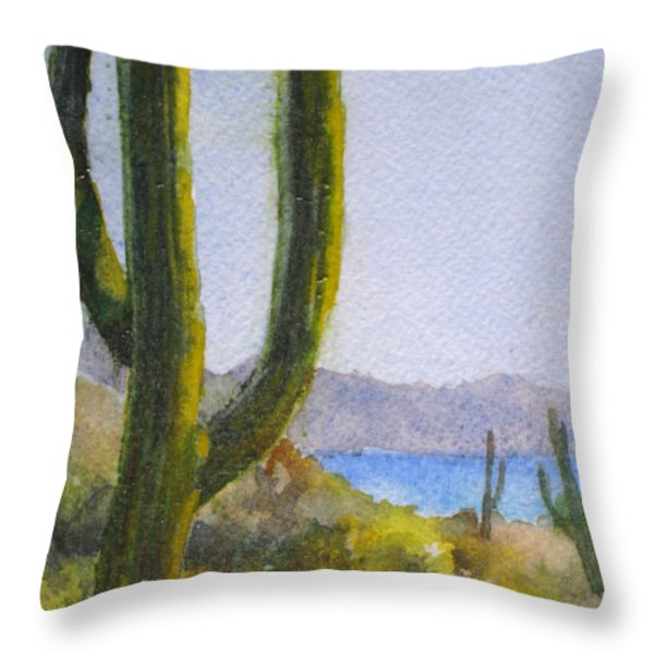 Saguaro Throw Pillow by Mohamed Hirji