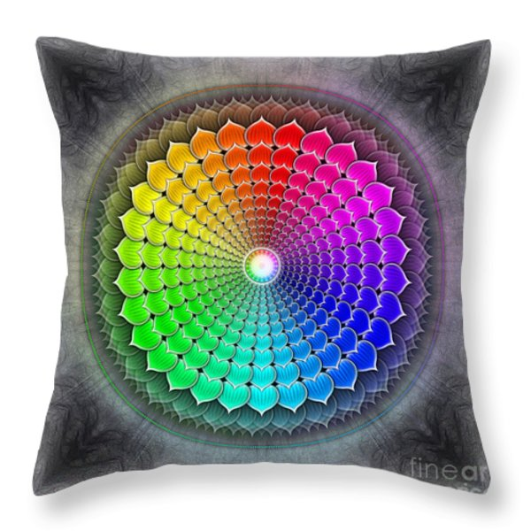 Sahasrara Chakra Series Iv Throw Pillow by Dirk Czarnota