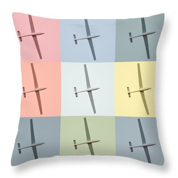 Sail Plane  Throw Pillow by Toppart Sweden