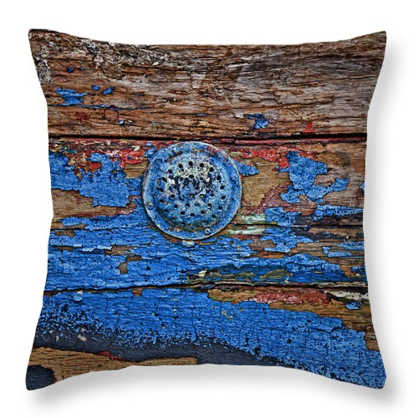 Sailboat Drain Throw Pillow by Murray Bloom