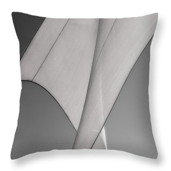 Sailcloth Abstract Number 3 Throw Pillow by Bob Orsillo