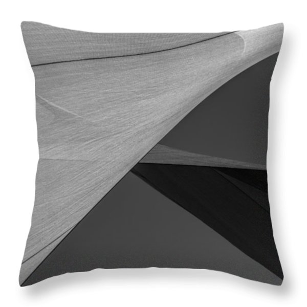 Sailcloth Abstract Number 9 Throw Pillow by Bob Orsillo