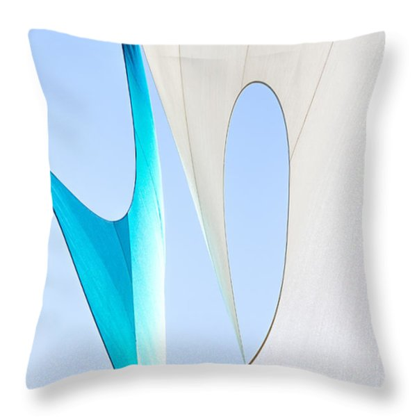 Sailcloth Abstract Number Twenty Throw Pillow by Bob Orsillo
