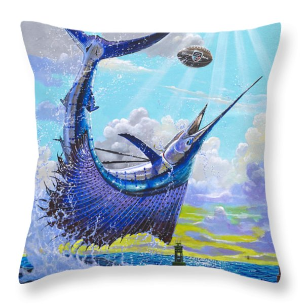 Sailfish Football Off0030 Throw Pillow by Carey Chen