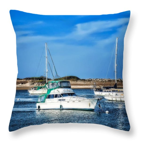 Sailing Throw Pillow by Camille Lopez