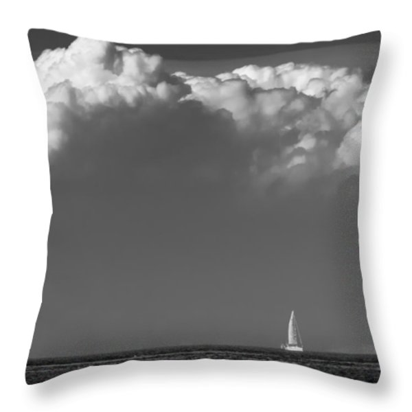 Sailing Home Throw Pillow by Wim Lanclus