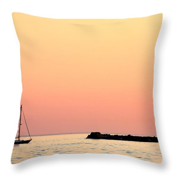Sailing In Color Throw Pillow by Gary Heller