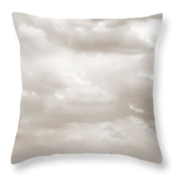 Sailing in New York Harbor - Nautical Throw Pillow by Gary Heller