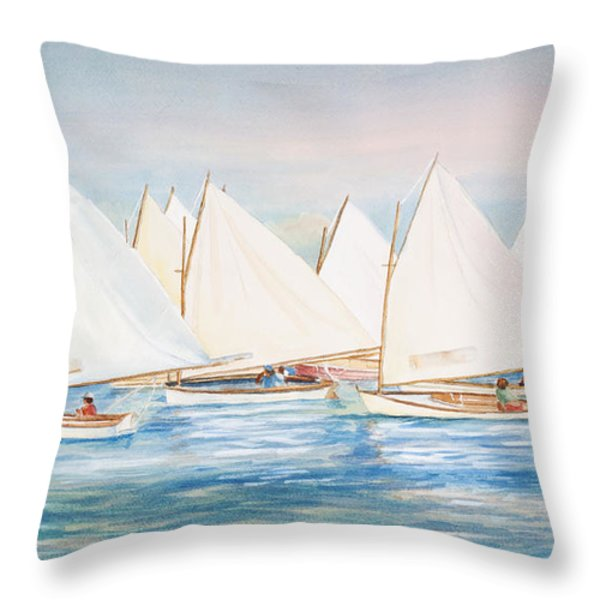 Sailing In The Summertime II Throw Pillow by Michelle Wiarda