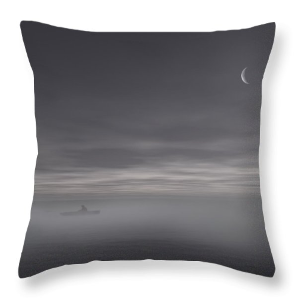 Sailing Solitude Throw Pillow by Lourry Legarde