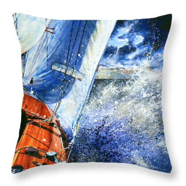 Sailing Souls Throw Pillow by Hanne Lore Koehler