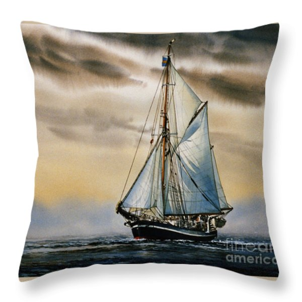 Sailing Vessel Seute Deern Throw Pillow by James Williamson