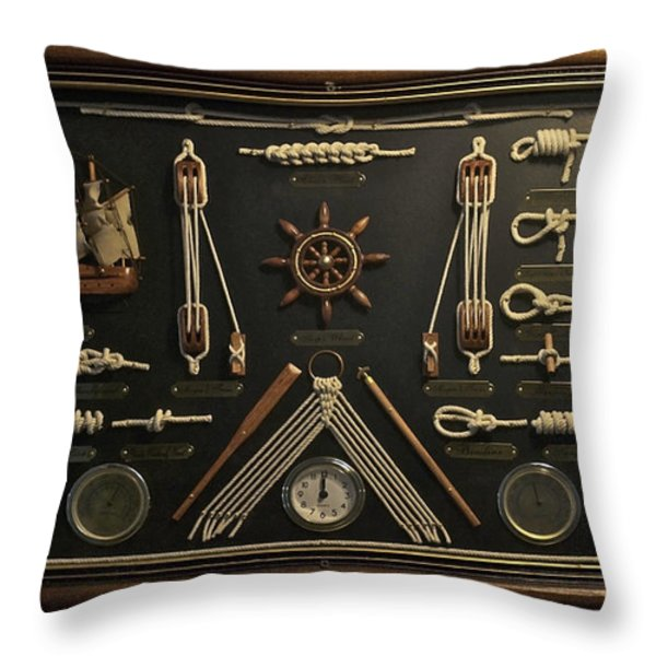 Sailors Rope Knots Throw Pillow by Thomas Woolworth