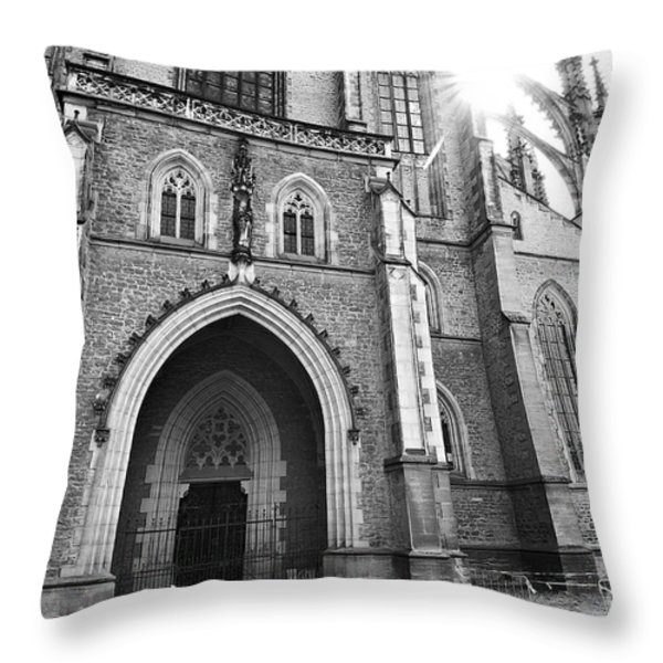 Saint Barbara's Church Throw Pillow by Michal Boubin