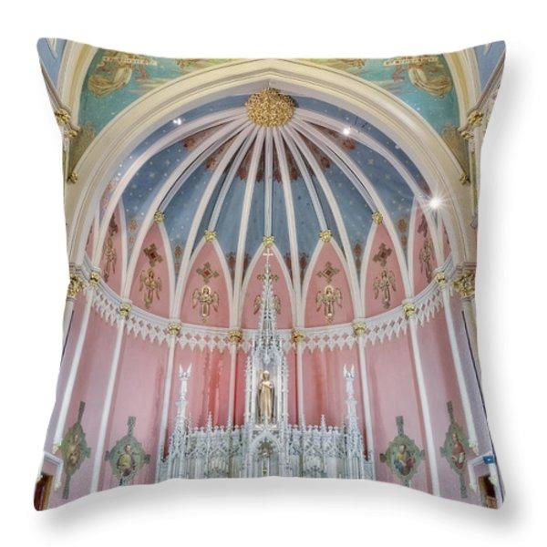 Saint Bridgets Altar Throw Pillow by Susan Candelario