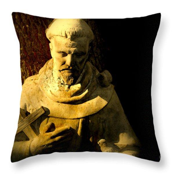 Saint Francis Throw Pillow by Susanne Van Hulst