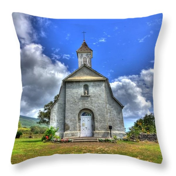 Saint Joeseph's Church Maui  Hawaii Throw Pillow by Puget  Exposure