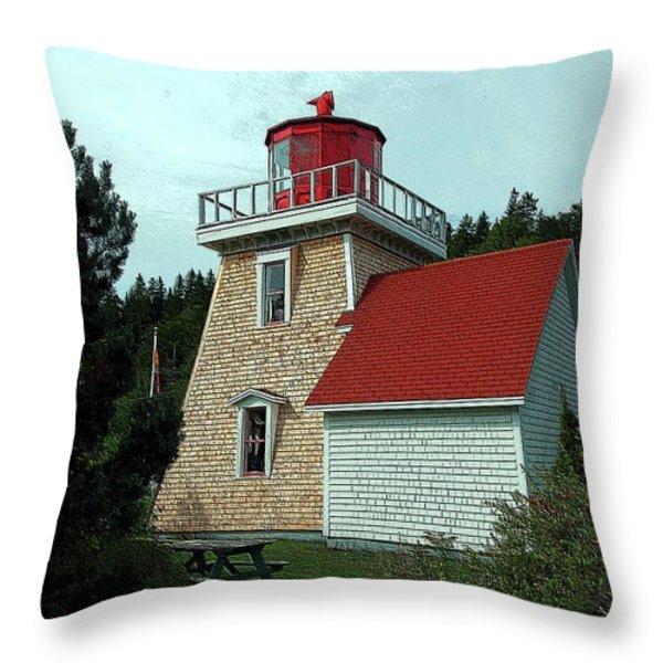 Saint Martin's Lighthouse 2 Throw Pillow by Kathleen Struckle