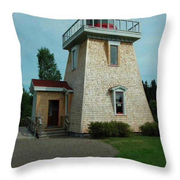 Saint Martin's Lighthouse Throw Pillow by Kathleen Struckle
