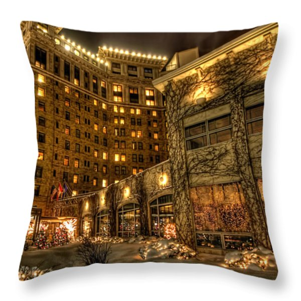Saint Paul Hotel Throw Pillow by Amanda Stadther