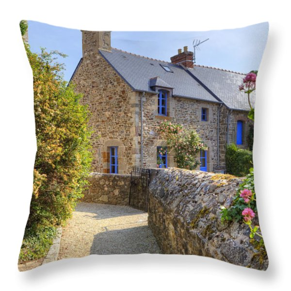 Saint-suliac - Brittany Throw Pillow by Joana Kruse