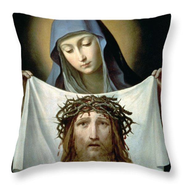 Saint Veronica Throw Pillow by Guido Reni