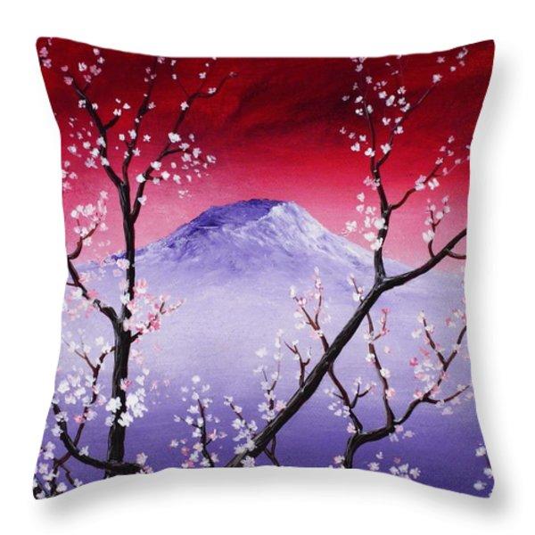 Sakura Throw Pillow by Anastasiya Malakhova