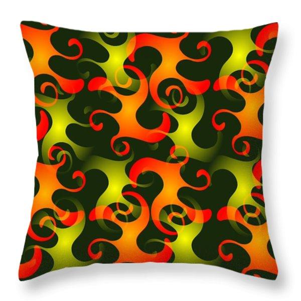 Salamanders Dream Throw Pillow by Anastasiya Malakhova