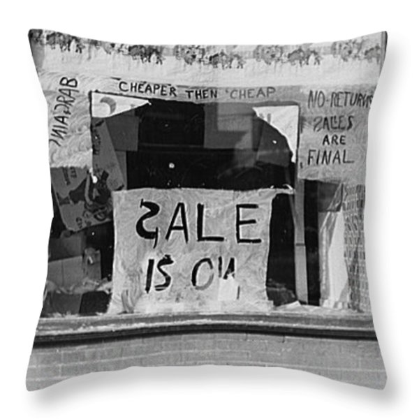 Sale Is On Throw Pillow by Bill Cannon