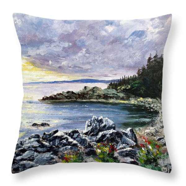 Salisbury Cove Throw Pillow by Lee Piper