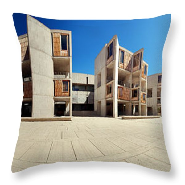 Salk Institute Throw Pillow by Nomad Art And  Design