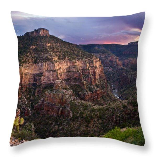 Salt River Purple Sunset Throw Pillow by Dave Dilli