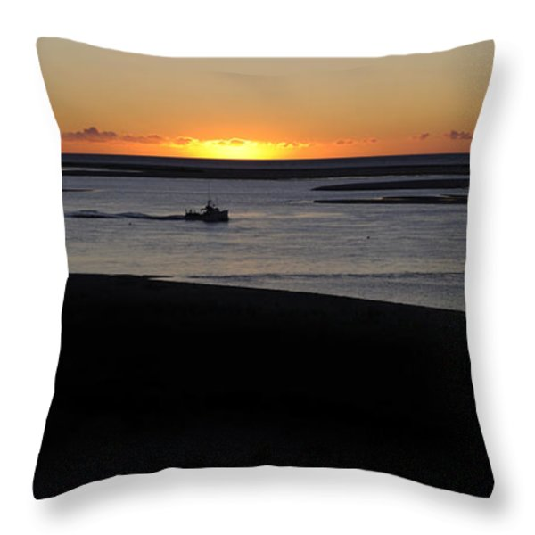 Salty Sunrise Throw Pillow by Luke Moore