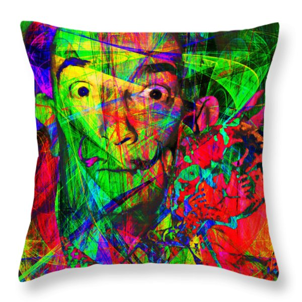 Salvador Dali 20130613 Throw Pillow by Wingsdomain Art and Photography