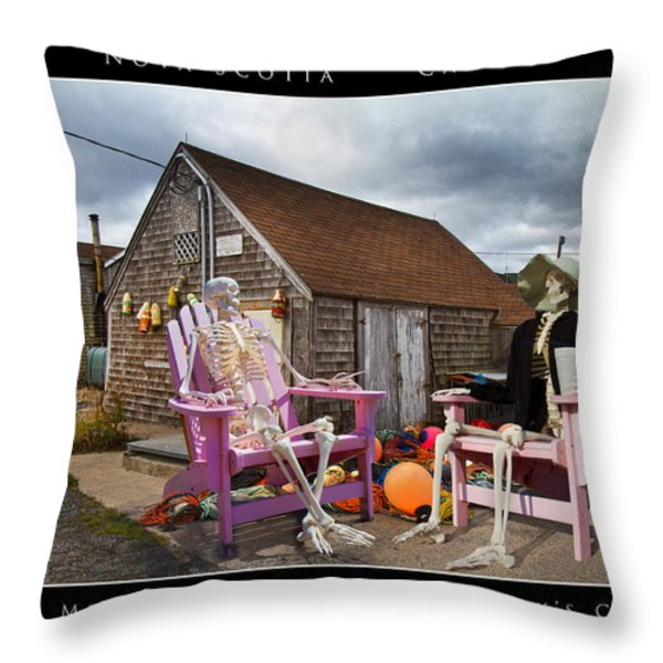 Sam And Peggy's Cove Throw Pillow by Betsy A  Cutler