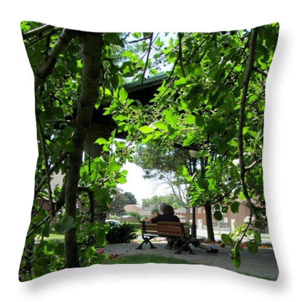Sam Lawrence Park Hamilton Ontario Canada 3 Throw Pillow by Danielle  Parent
