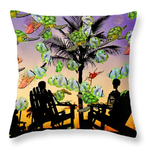 Sam's Imagination IIi Throw Pillow by Betsy A  Cutler