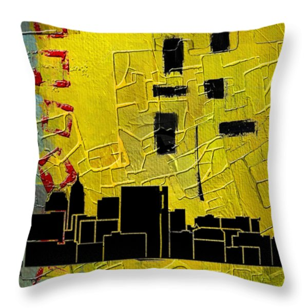 San Antonio 002 C Throw Pillow by Corporate Art Task Force