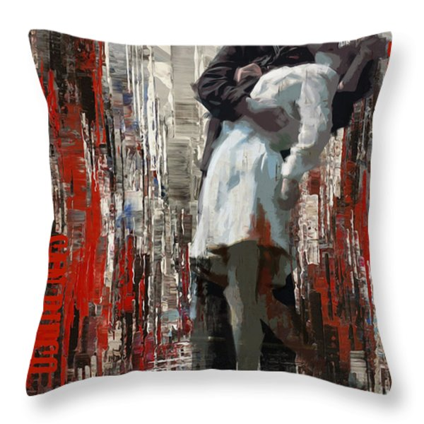 San Diego City Collage Throw Pillow by Corporate Art Task Force