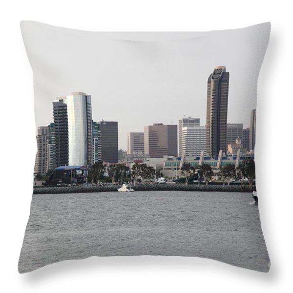 San Diego Skyline 5d24380 Throw Pillow by Wingsdomain Art and Photography